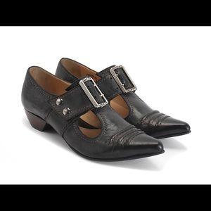 John Fluevog Pilgrim Buckled Loafers